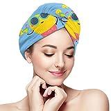 Xukmefat Trockenes Haar Cap Sommer Haar Handtuch Wrap für Frauen Trocknen Bad Duschkopf Handtuch mit Knöpfen Quick Dry Handtuch Hut