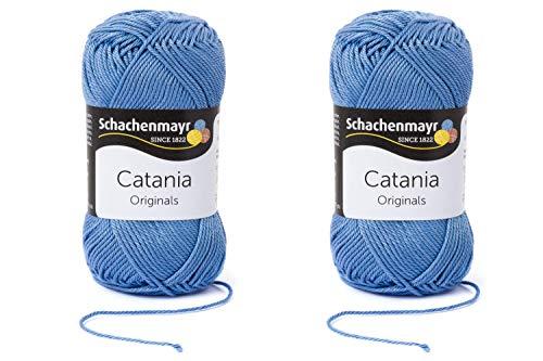 Schachenmayr since 1822 9801210-00247 Catania Handstrickgarn, Baumwolle, Wolke, 50g, 2 Stück