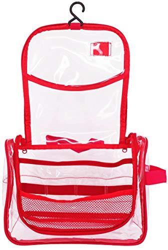 Rough Enough Clear Transparent PVC Cosmetic Bag Durchsichtig Große Kapazität Kosmetiktasche Toilettentasche Klar Kulturbeutel Aufbewahrungstasche Für Männer Frauen Reisen Strand Schwimmen