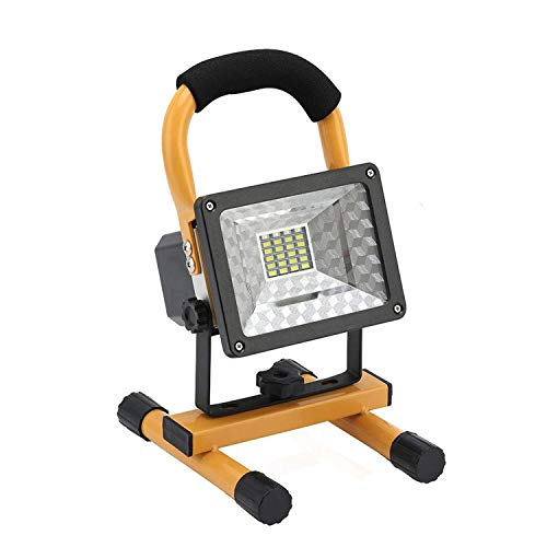 OTYTY COB Rechargeable Portable LED Work Light with Stand [24LEDs,30W], Waterproof LED Flood Lights for Outdoor Camping Hiking Emergency Car Repairing Job Site Lighting (W804)