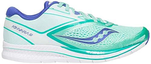 Saucony Women Kinvara 9 Neutral Running Shoe Running Shoes Mint - White 4