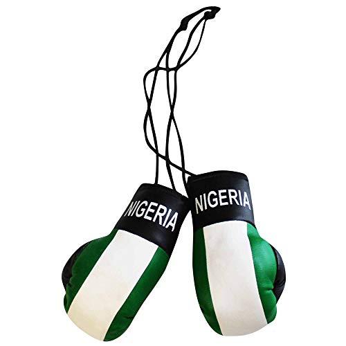 Nigeria Mini Boxhandschuhe für Auto und Zuhause Flagge