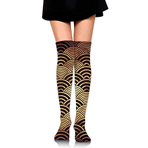 Felsiago Calcetines hasta la rodilla para mujer, tradicionales japoneses, al aire libre, informales, para niñas, piernas, vestidos de invierno, pantalón, medias de bota larga de punto