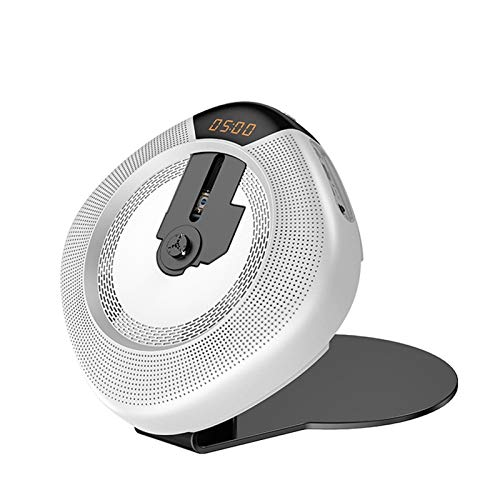 Adesign Reproductor de CD Portátil Walkman de Alta resolución Audio Digital Digital Walkman Programmed Play Play Play Player para niños (Color : White)