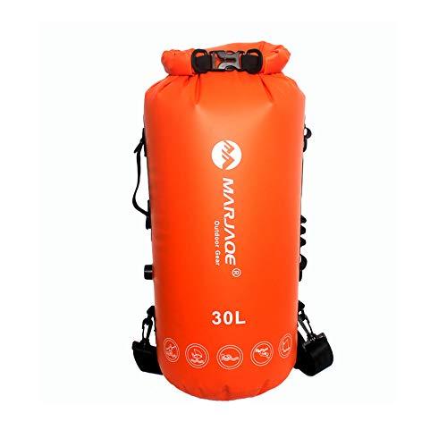 MooKe 30L wasserdichter Rucksack Packsack, IPX7 wasserdichter, Leichter Packsack für den Strand, Bootfahren, Angeln, Kajakfahren, Schwimmen, Rafting