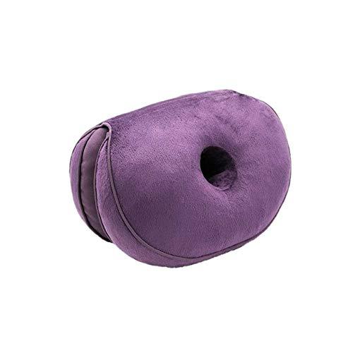 OLI Comfort Butt Latex Seat dubbel zitkussen multifunctioneel traagschuim Hip Lift zitkussen Prachtig heupkussen voor thuis 31 x 45 x 10 cm lila