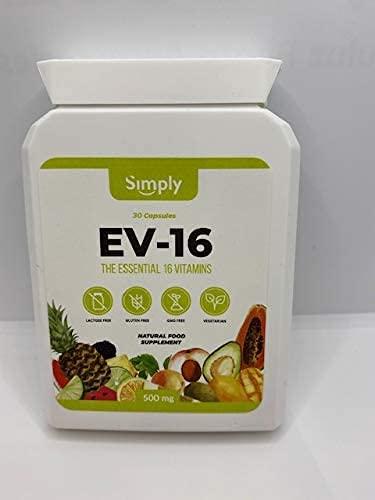 Multi Vitamin Capsule Natural Pure Plant Derived - Contains 16 Essential Plant Vitamins 30 Capsules