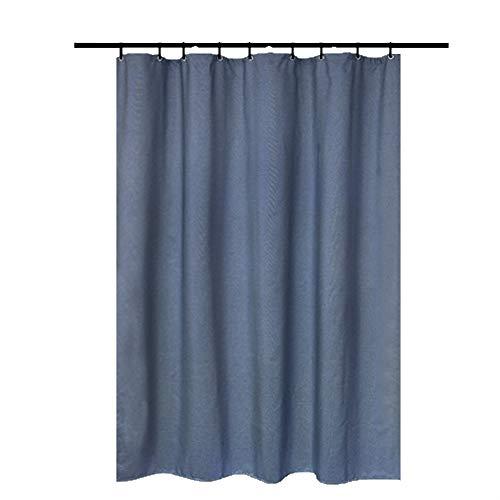 Shower Curtains Badezimmer Duschvorhang Trennwand Vorhang mit wasserdichter und Mehltau Verdickung ist geeignet for Bad Toilette (Color : Blue)