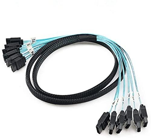 CableDeconn Sata3 III SAS Kable High Speed 6Gbps Quality for Server 1M (6pcs/set 0.5M)