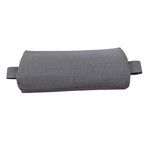 Homyl Liegen Auflagen Kissen Stuhlauflage Liegenauflage Zubehör für Liegestuhl Sonnenliege - Kopfkissen- Grau