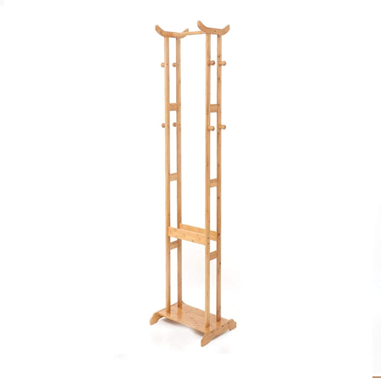 Coat Rack Floor Bedroom Home Hanger Simple Modern Multi-Purpose Coat Rack Solid Wood color Simple Hanger