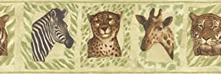 giraffe print border wallpaper