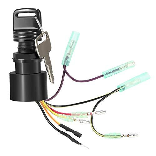 WEIMEIDA Qclj0421 Interruptor de Llave de Encendido del Motor de Bote Negro Motores externos de Mercurio 3 posición Fuera de ejecución 87-17009A5 Piezas de Repuesto