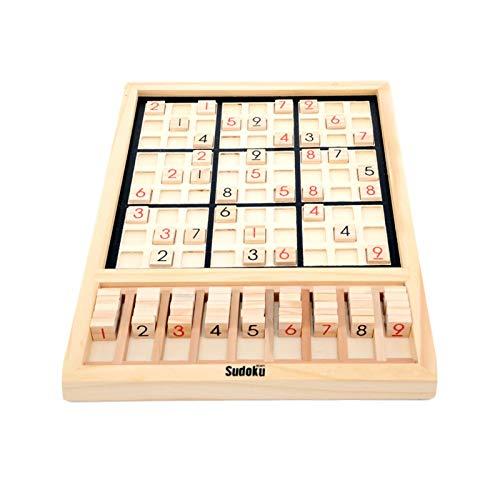 Schulspiel Brettspiel, Zone Holz Sudoku Brett Spiele, Holz Sudoku Brettspiel Sudoku Brettspiel - Mit Zahlenplättchen