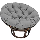 YB&GQ Papasan Chair Cushion with Ties,Egg Sitter Seat Cushions,Waterproof Cover Sink Into Our Thick Comfortable Papasan,Chair Not Included Gray 50x50x15cm(19.7x19.7x5.9inch)