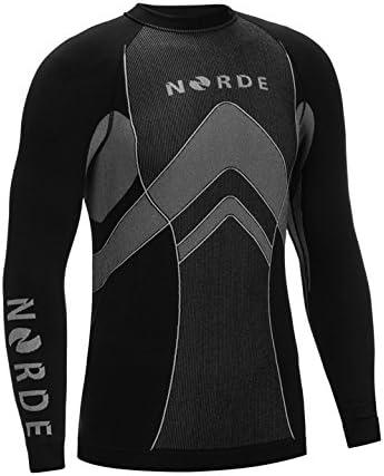 Biancheria intima termica da uomo per attivit/à all/'aria aperta traspirante ciclismo corsa Norde