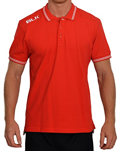 BLK 420250005 Polo Homme, Rouge/Blanc, FR (Taille Fabricant : XL)
