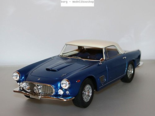 Maserati 3500 GT Touring, metallic-blau/weiss - 1957 - Maßstab: 1:18 - Resine - Fertigmodell - BoS-Models