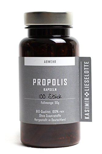 Propolis Kapseln (400mg) in Pharma-Qualität - 100 Stück