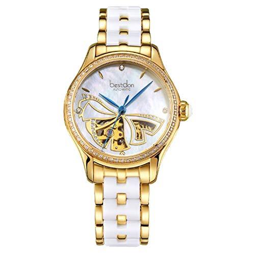 AESOP Damenuhr automatische mechanische Uhr Mode wasserdicht Trend Keramik Damenuhr