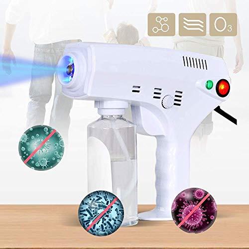 Byakns Pistola de desinfección de atomización portátil Pistola para el hogar CUIDADO CUIDADO CUIDADO PEQUEÑO CALIENTE Pulverizador de vapor caliente, máquina de fumigadora electrostática portátil de l