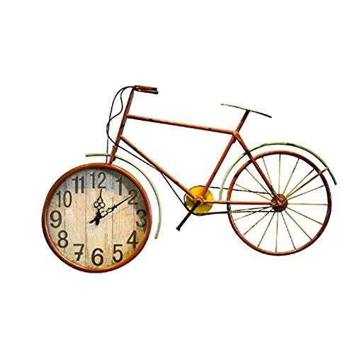 WANGXINQUAN Reloj de pared con diseño de bicicleta, decoración de bar, restaurante, 92 x 5,5 x 56 cm