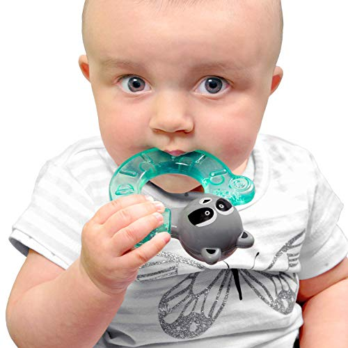 bblüv - Gümi - Racoon - Chillable Textured Teething Toy (Aqua)