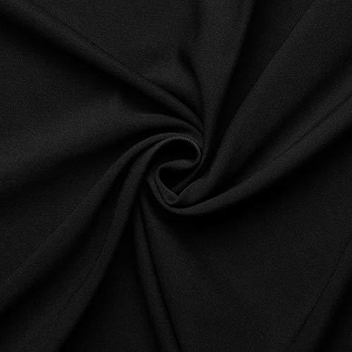 aktivstoffe Tela de Lana - Gabardina Fina - Elastán, Lana - por Metro - 4 Colores (Negro)
