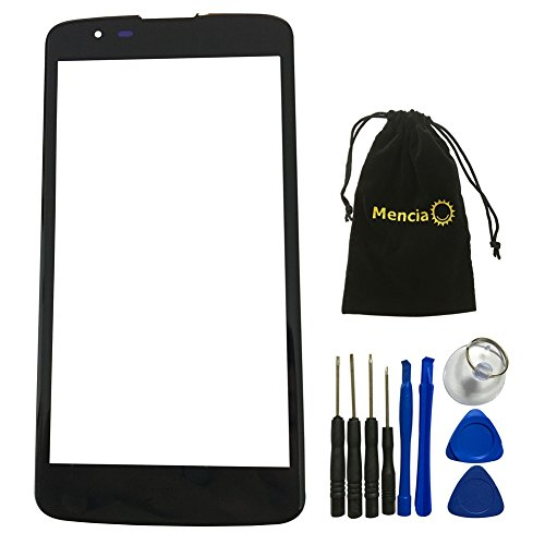Mencia Outer Glass Screen Replacement Compatible With LG Tribute 5 K7 MS330 With Openning Tools