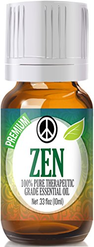Healing Solutions Zen Blend Essential Oil - 100% Pure Therapeutic Grade Zen Blend Oil - 10ml