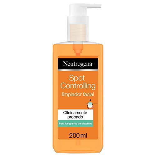 Neutrogena Spot Controlling Gel Limpiador Facial, con Ácido Salicílico para Piel Propensa al Acné, 200 Mililitros