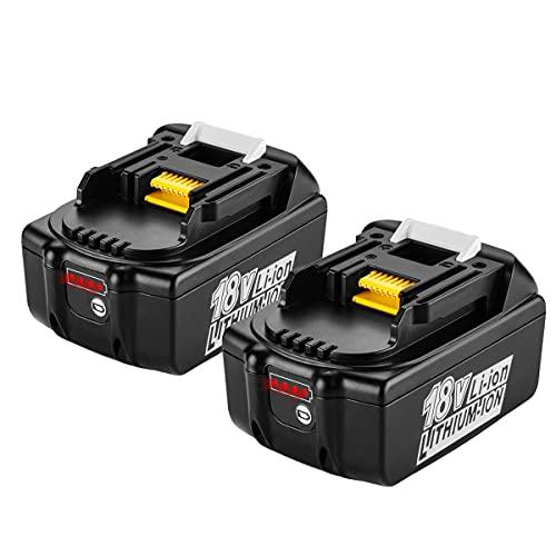 XNJTG 2 Packs 5,5Ah 18V für Makita Ersatzakku 18V Akku BL1850 Werkzeug Ersatz Akku BL1830 BL1850 BL1860B BL1860 BL1840 BL1850B BL1840B