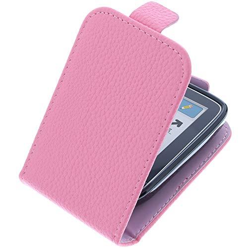 foto-kontor Tasche für Abbott Freestyle Libre 1 Flip Style pink Schutz Hülle Case