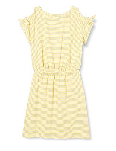 NAME IT Mädchen NKFFANIA SS Dress Kleid, Aspen Gold, 164