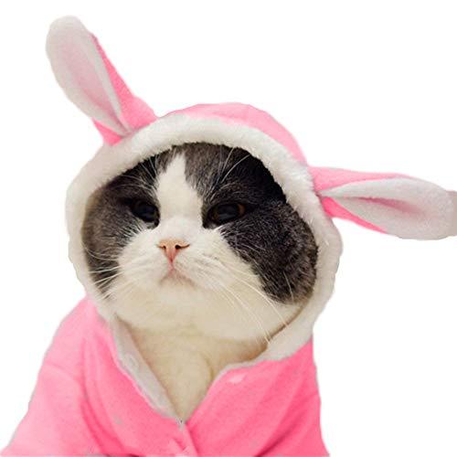 Delifur Osterhasen-Kostüm Haustier Kaninchen Kapuzenpullover Hund Mantel für kleine Hunde und Katzen, L