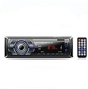 Radio de Coche, Arespark Autoradio Bluetooth Control Remoto Estéreo de Coche, Apoyo de Reproductor MP3 Llamadas Manos Libres, Función de Radio y de Archivo, Soporte para Modelos como Seat,Dacia
