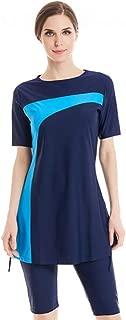 Muslim Swimsuits for Women Girls Islamic Swimming Costume Surfing Short Sleeve Modest Swimwear Modesty Burkini