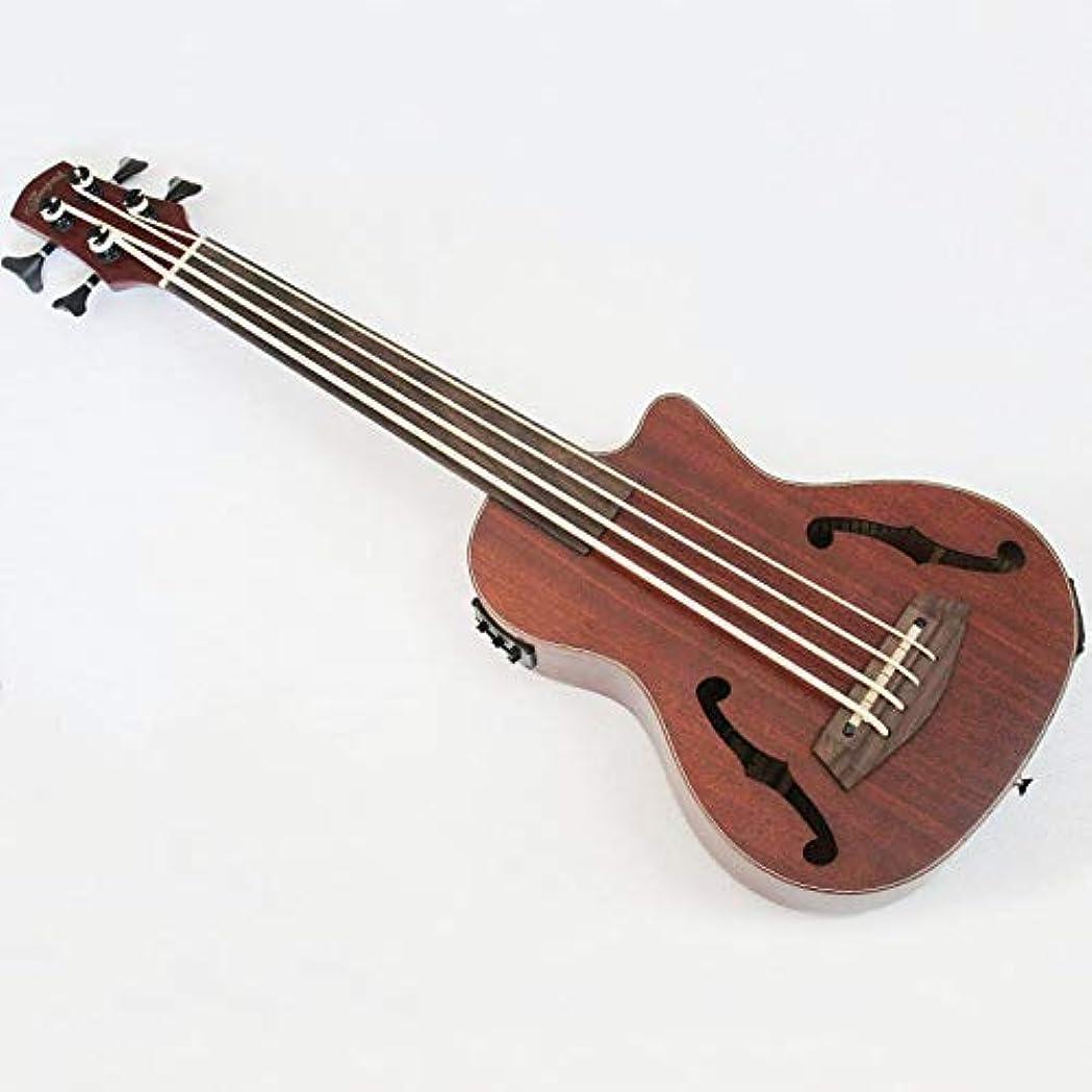 回想めまいインデックスMUSOO 4 弦 ウクレレ ベー ス マホガニー インストゥルメント EQ 付 ナチュラル