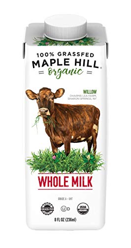 Maple Hill Shelf Stable Milk, 100% Grass-Fed, Organic, Whole White, 8 fl oz