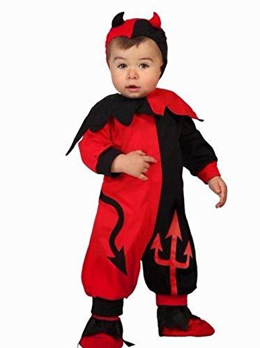 Atosa-22722 Disfraz Demonio, Color Rojo, 12 a 24 Meses (22722)