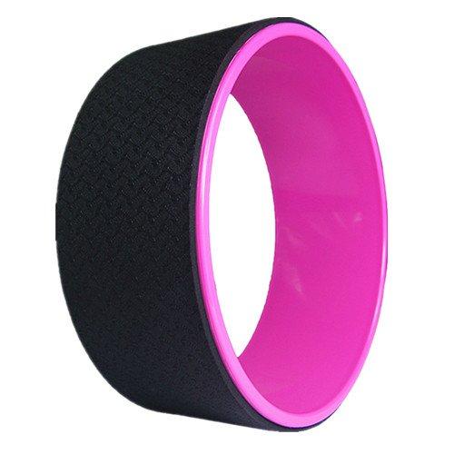 Yoga Pilates Prop rueda 33x 13cms para estirar y mayor flexibilidad. Objetivos columna vertebral, hombros, caderas, abdomen y en el pecho, rosa