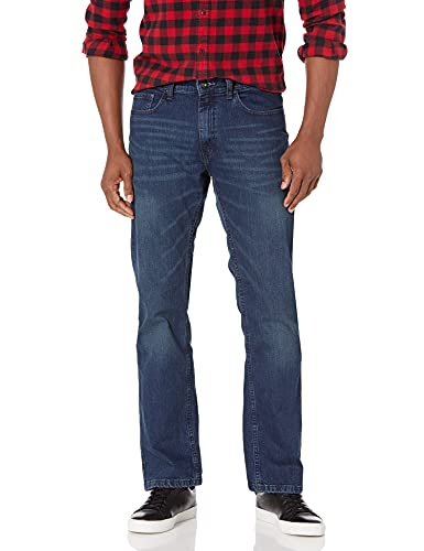 Nautica Men's 5 Pocket Relaxed Fit Stretch Jean, Pure Deep Bay Wash, 34W 32L