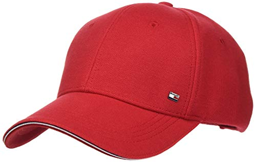Tommy Hilfiger Elevated Corporate Cap Gorro/Sombrero, Rojo primario, Taille Unique para Hombre