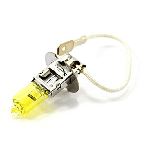 LEORX Ein Paar H3 12 V 100 W 3000 K superhelles gelbes Licht Auto HOD Xenon-Leuchtmittel Nebelscheinwerfer