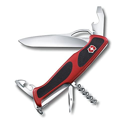 Victorinox Taschenmesser Ranger Grip 61 (11 Funktionen, Einhand-Feststellklinge) rot/schwarz