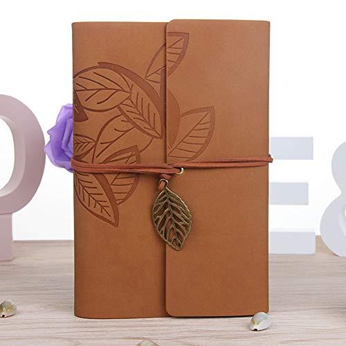 Guangxichuangshengxinfu Kreatives Notizbuch Personalisierung Reisetagebuch Buch lose Blätter Vintage Blatt Notizbuch BR