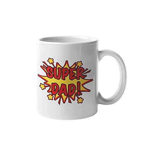 """Shirtinator Taza de regalo para papá con texto """"I Super Dad"""", regalo de cumpleaños para el día del padre para hombres, ideas de regalo para papá"""
