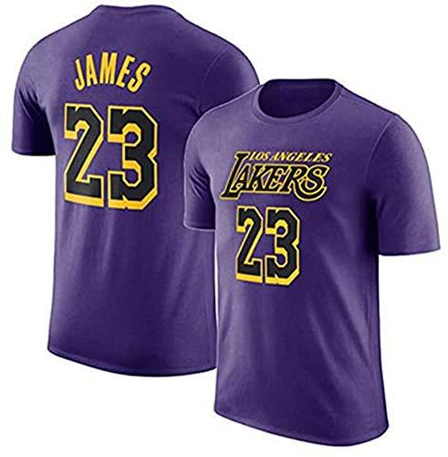 XH-Sport NBA Los Hombres de Jersey, (4) Estilos Lakers # 23 James, Cuello Redondo Manga Corta Camiseta, Adolescente Loose Short Deportes Jersey 2019 2020 versión Urbana,2,XL