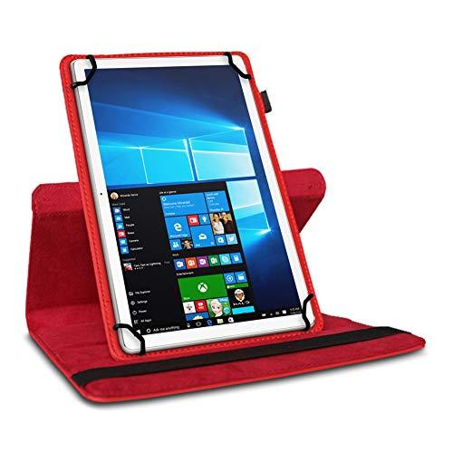 UC-Express Tablet Hülle kompatibel für Lenovo M10 Plus Tasche Schutzhülle Case Schutz Cover 360 Drehbar 10.3 Zoll, Farbe:Rot