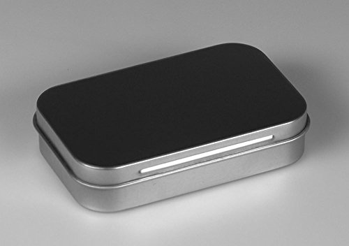 Metalldose silber (94 x 59 x 19 mm)